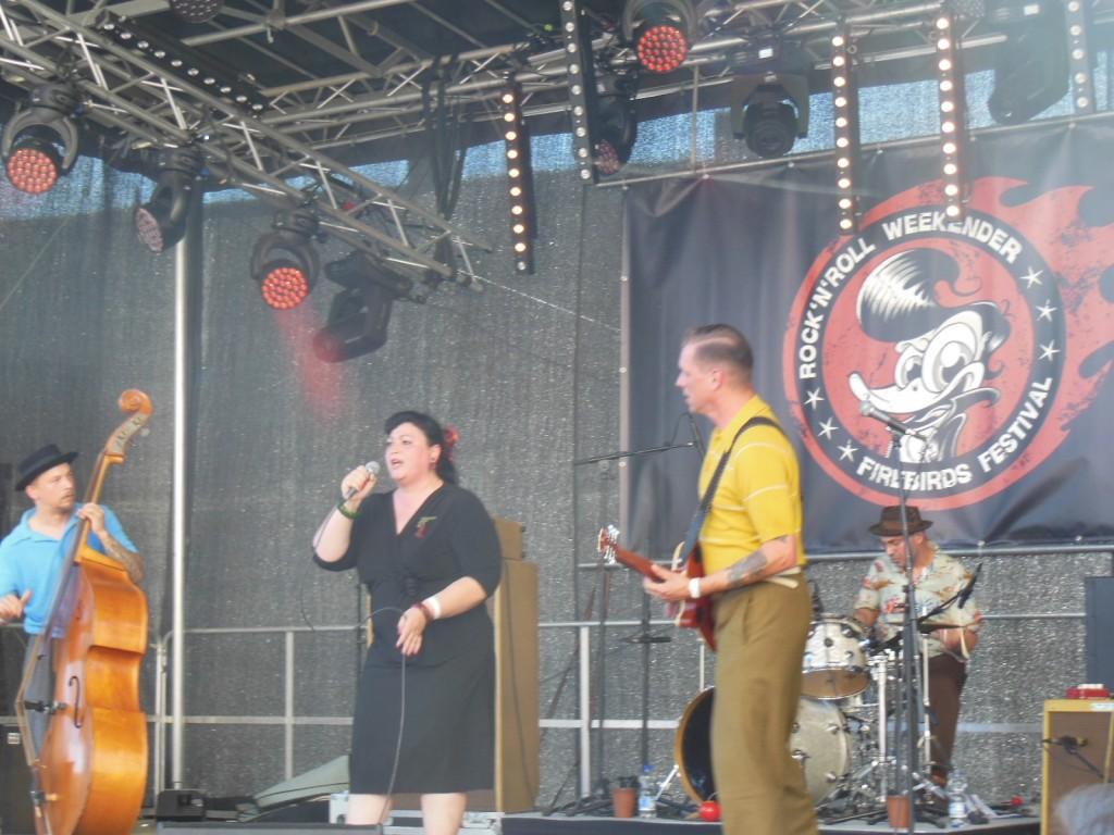 The Booze Bombs beim Rockabilly Firebirds Festival