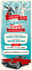 Flyer Rockabilly-Party im Adiamo Essen