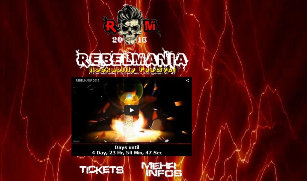 Homepage Rebelmania Rockabilly Festival